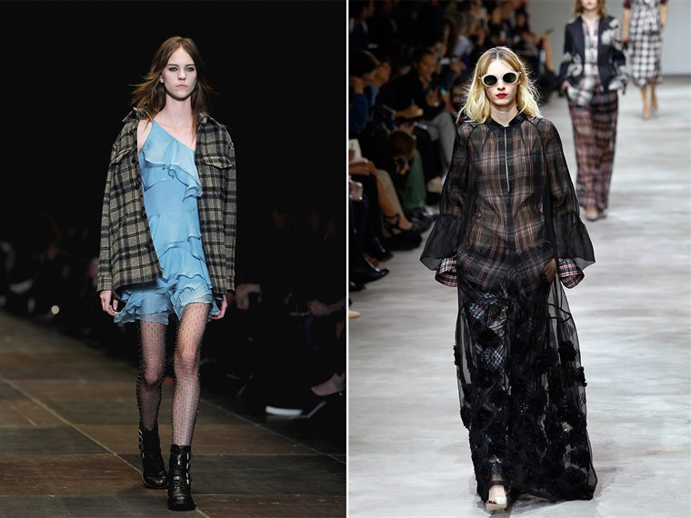 Grunge-inspired looks on the catwalk