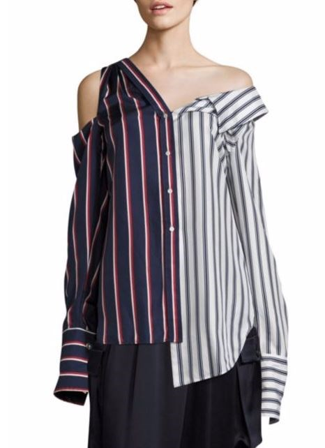 Aszimmetrikus Striped Top
