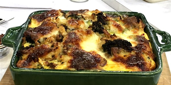 elszenesedett Broccoli, Mushroom and Egg Strata