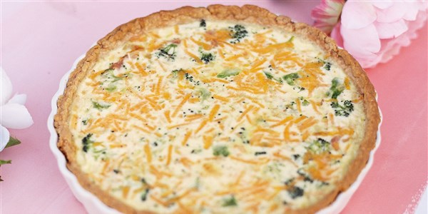 al Roker's Broccoli, Ham and Cheddar Quiche