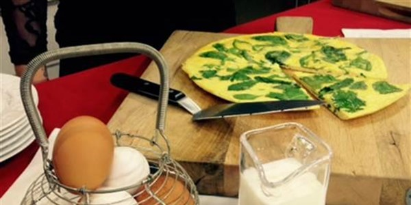 frittata with seasonal greens