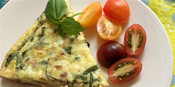 Grillezett Corn and Basil Frittata