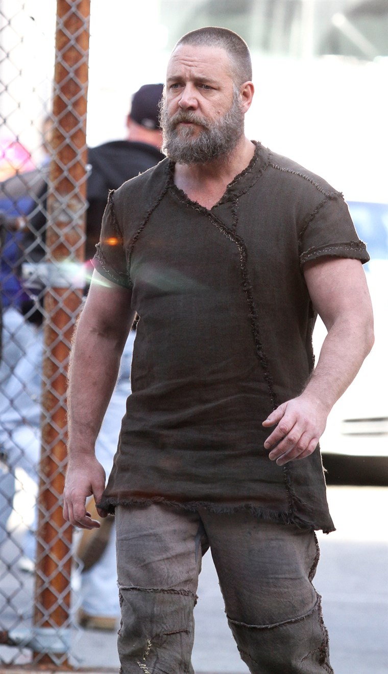 Russell Crowe on the set of his new movie