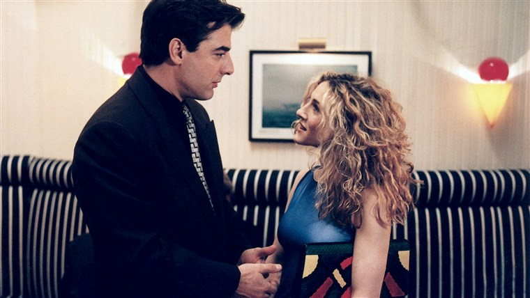 Carrie (Sarah Jessica Parker) and Mr. Big (Chris Noth) on