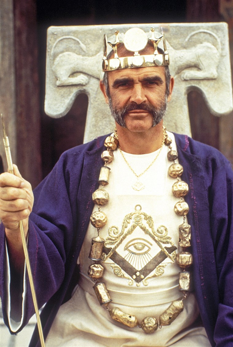 MAN WHO WOULD BE KING, Sean Connery, 1975