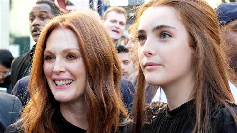 Julianne Moore and daughter