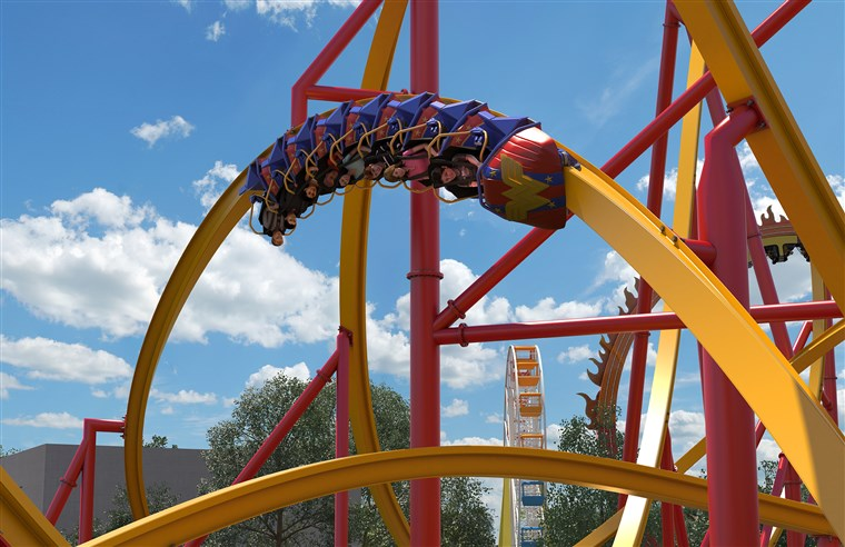 חדש Wonder Woman rollercoaster at Six Flags!
