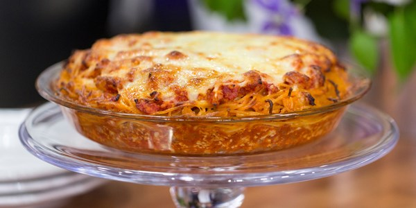 Adam Richman's Spaghetti Pie
