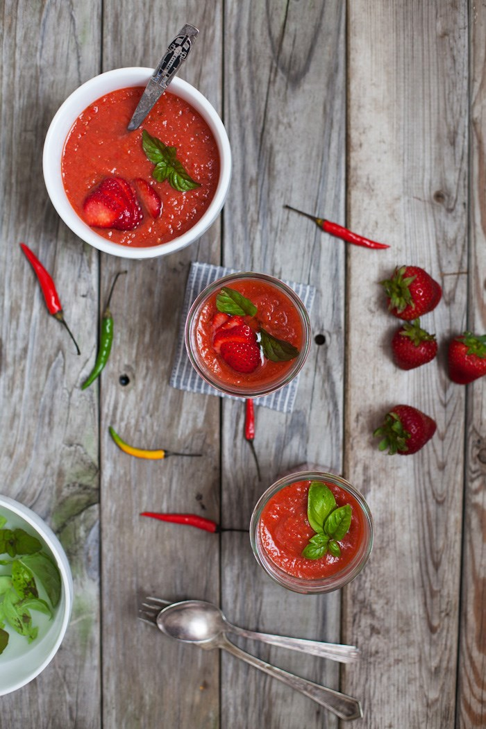Začinjeno Strawberry Gazpacho