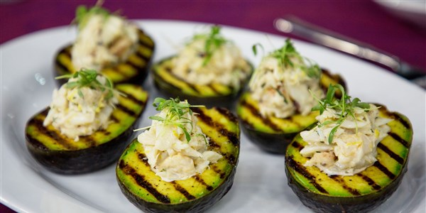 Grillezett Avocado with Dungeness Crab Salad