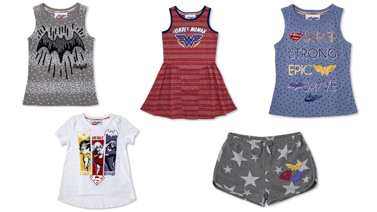 collection also features clothes for girls.