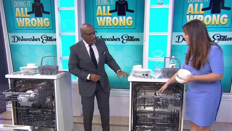 A mosogatógép helyes betöltése