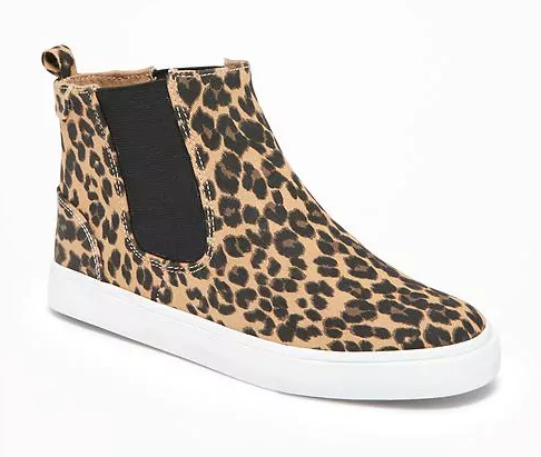 Leopard הדפסה Chelsea Mid-Tops for Girls