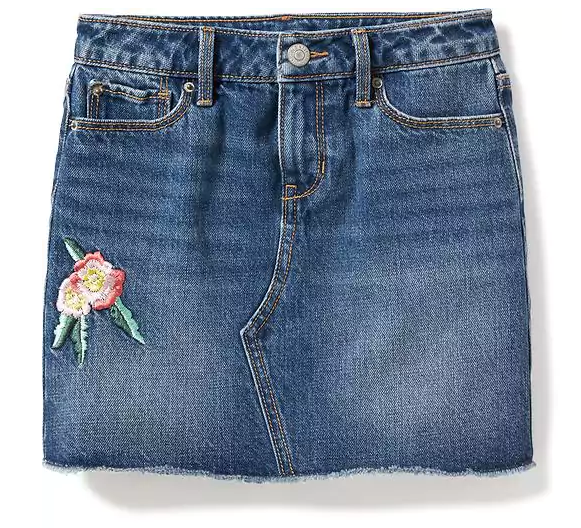 רקמה - פרח Denim Mini for Girls