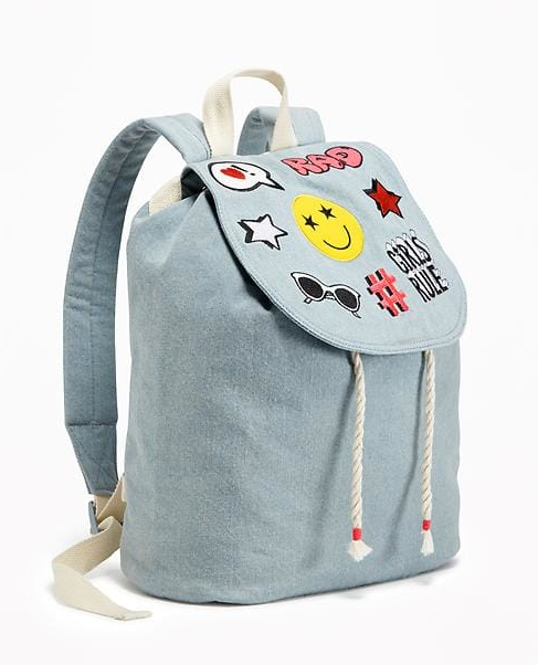 דנים Drawstring Backpack for Girls