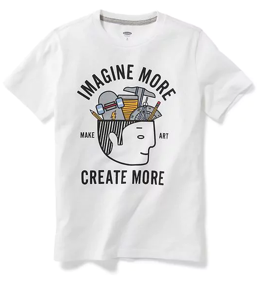 גרפי Crew-Neck Tee for Boys