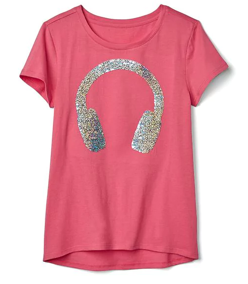 פליפי sequin graphic tee