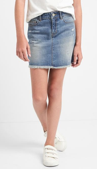 מצוקה denim skirt