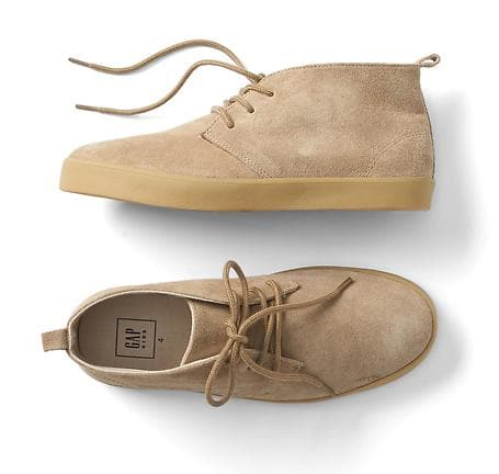 faux suede mid-top sneakers