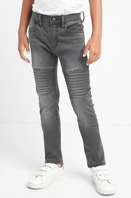 Magas stretch moto slouchy skinny jeans