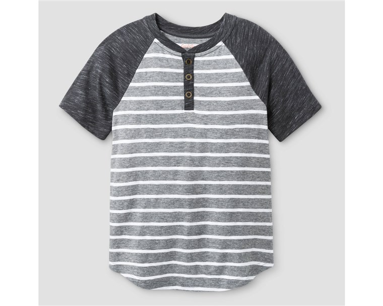 בנים' Henley Shirt - Cat & Jack(TM) Heather Gray