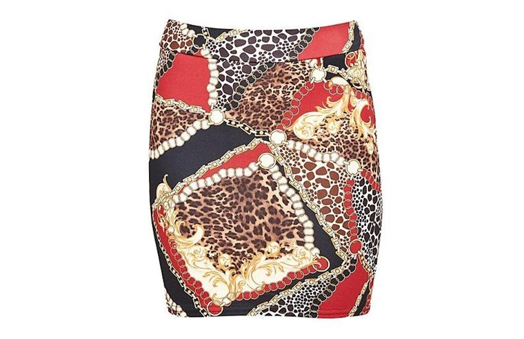 חדש Look's Baroque Print Tube Skirt, $22.95.