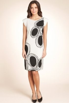 שכבות Cap Sleeve Spotted Dress, Marks & Spenser, £49.50 (roughly $78).