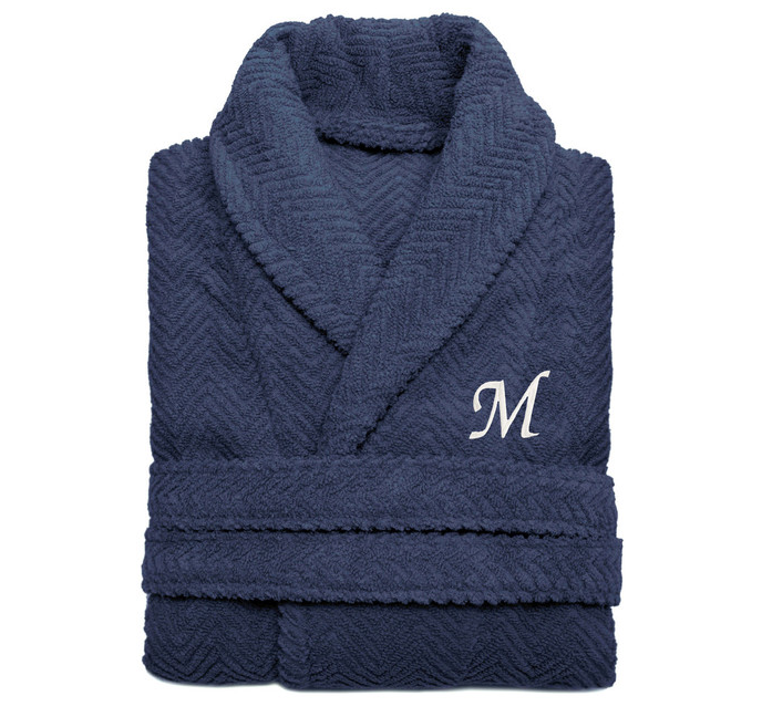 כחול Bathrobe with monogram