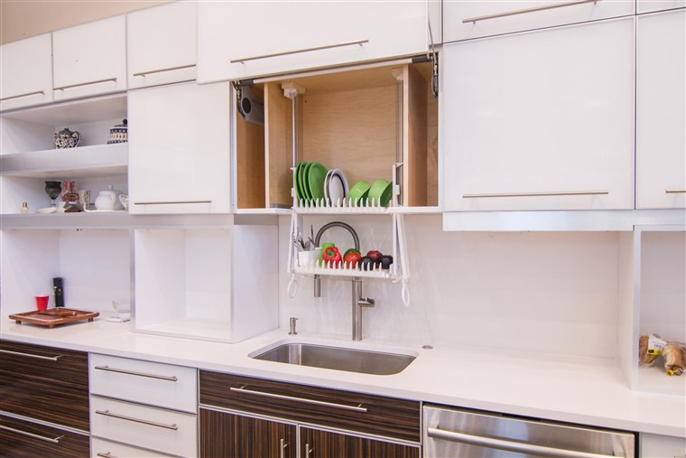 A DripDry can be installed into an existing cabinet, and can also be used to store washed fruits and vegetables.