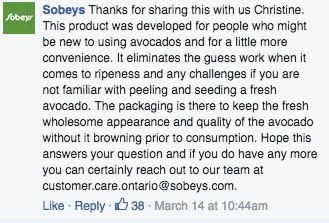 Sobeys' response to pre-cut avocado criticism