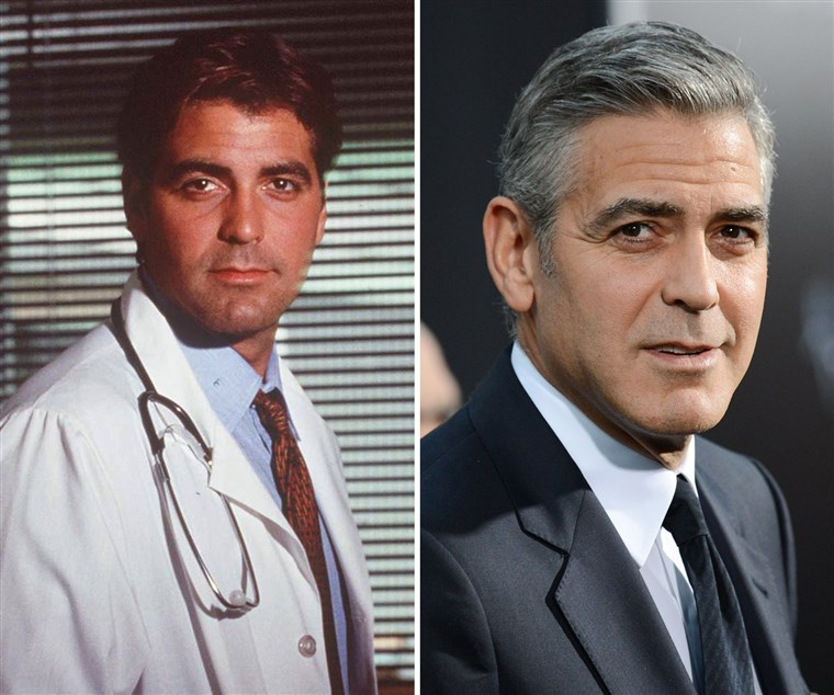 George Clooney, then and now.