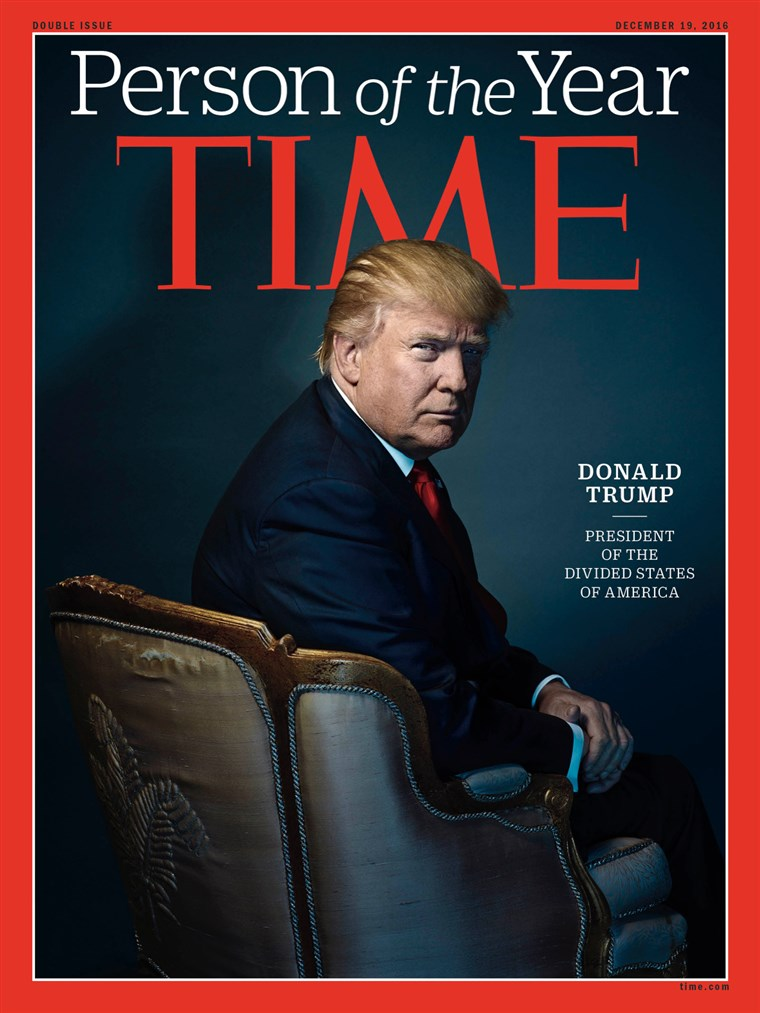 Novoizabrani predsjednik Donald Trump is TIME's Person of the Year for 2016