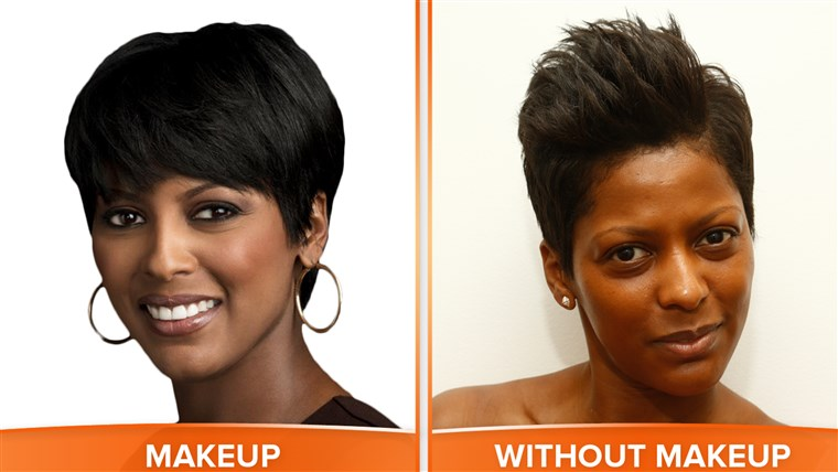 Tamron with and without makeup.