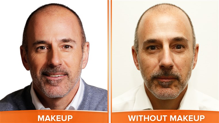 मैट with and without makeup.