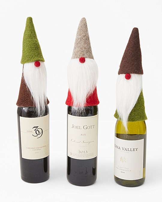felted Wine Toppers
