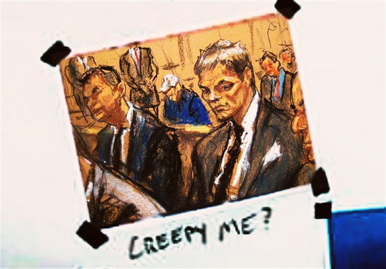 טום Brady courtroom sketch
