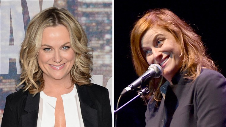 Amy Poehler changes hair color from blonde to red