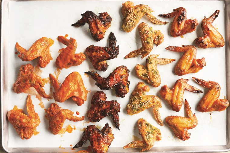 Martha Stewart chicken wings four ways