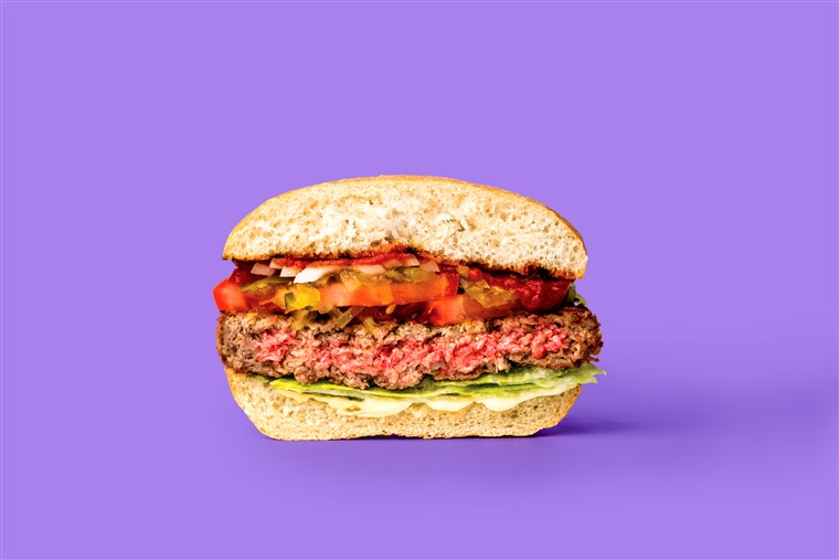 A Impossible Burger looks mighty meaty ... but it's not.