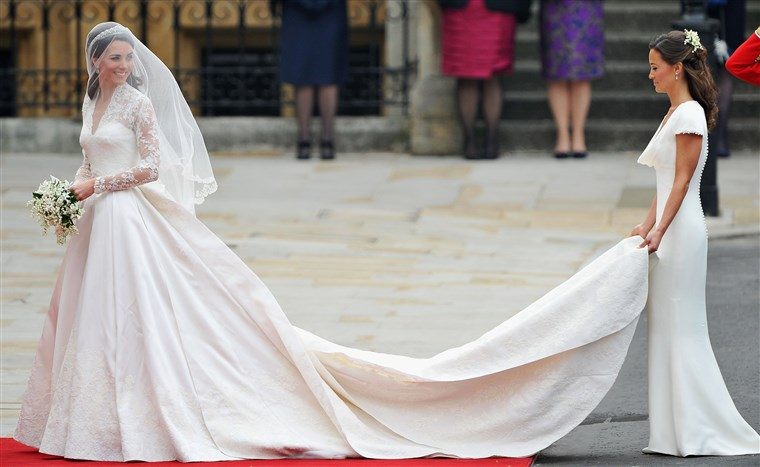 Kép: Image: Royal Wedding - Wedding Guests And Party Make Their Way To Westminster Abbey