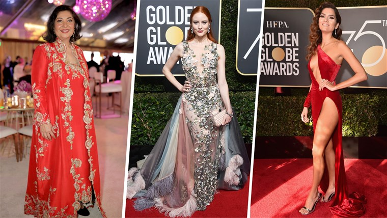 מאהר Tatna, Barbara Meier and Blanca Blanco buck the trend at the 2018 Golden Globes.
