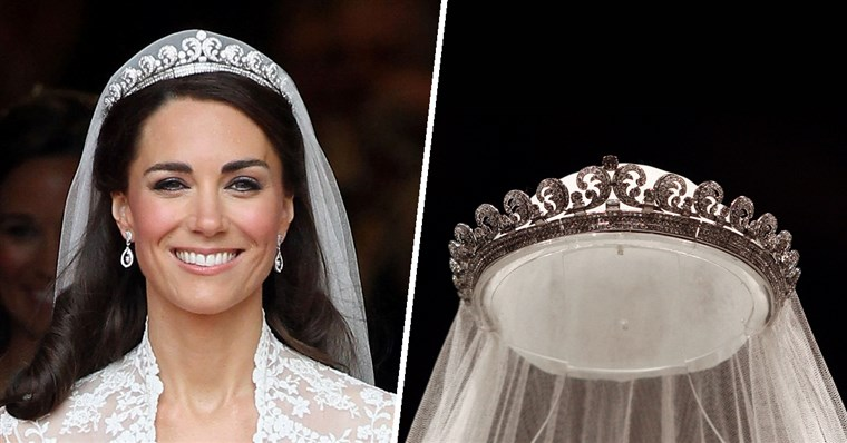 A Cartier Halo tiara is made of diamonds and platinum.