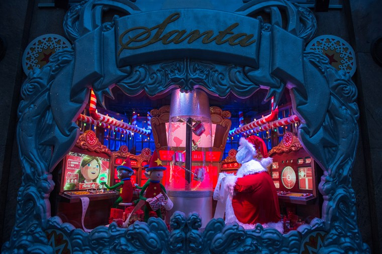 Macys department store holiday windows.