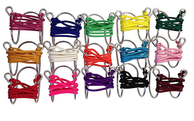 Vino Glass Necklace with Assorted Colored Cords, Aluminum photo
