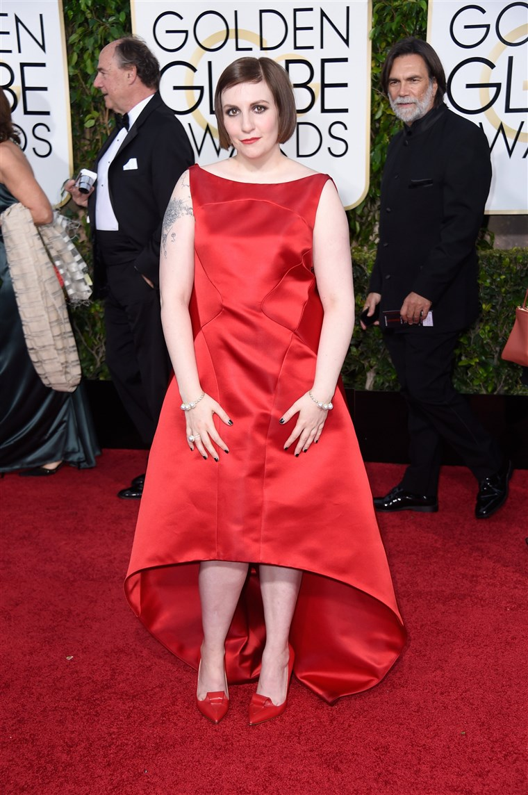 छवि: 72nd Annual Golden Globe Awards - Arrivals, Lena Dunham, Zac Posen